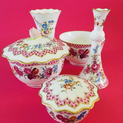 Royal Worcester - Amelia - Dressing Table Items